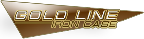 logo gold line iron