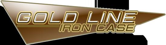 logo gold line iron